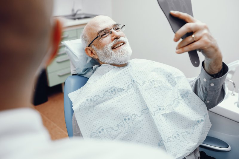 Patient at dentist in Temple